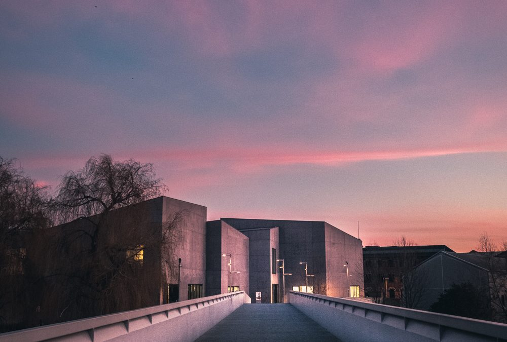 Wakefield Sunset at The Hepworth