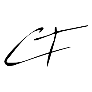 Photographer's signature of the letters C T